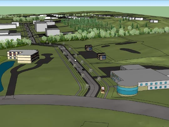 A conceptual drawing of the Brown County Research and Technology Park.
