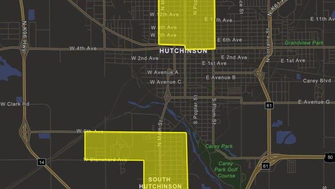 This snip from the county's COVID-19 dashboard shows new community spread hot spots within the county.