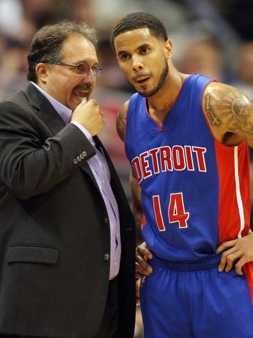 Pistons coach Stan Van Gundy opted to use D.J. Augustin