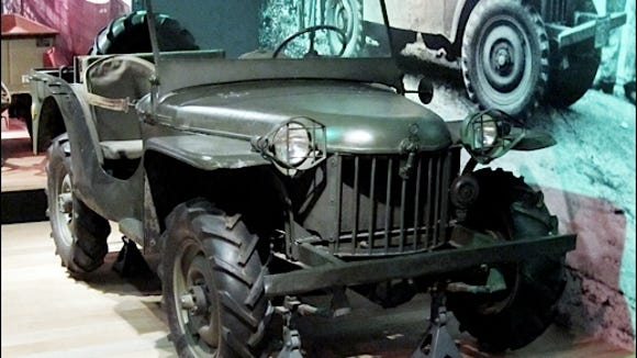 "Seventh (BRC) Bantam Reconnaissance Car; the ""Oldest Surviving Original Jeep,"" on display at Heinz History Center, Pittsburgh, PA. (2015 Photo, S. H. Smith)"