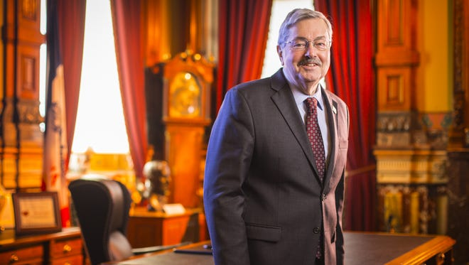 Iowa Gov. Terry Branstad on Jan. 7, 2014 at his ceremonial formal office in the Iowa Statehouse in Des Moines, Iowa.