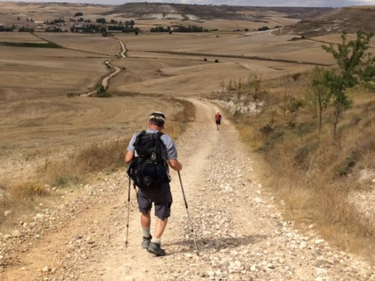Hiking the the Camino De Santiago in Spain.