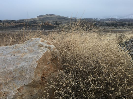 Part of the land along Geiger Grade Road where developers plan to put a 56-lot subdivision.