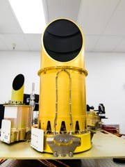 All three OSIRIS-REx camera suite instruments being tested together during summer 2015 in the laboratory at the University of Arizona prior to being shipped to the spacecraft.