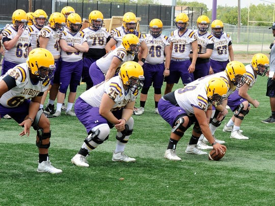 The Hardin-Simmons offensive line brings back experience