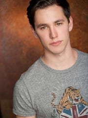 """Actor Gabe Gibbs plays Elder Kevin Price in the touring production of """"The Book of Mormon."""""""