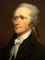 A portrait of Alexander Hamilton by John Trumbull.