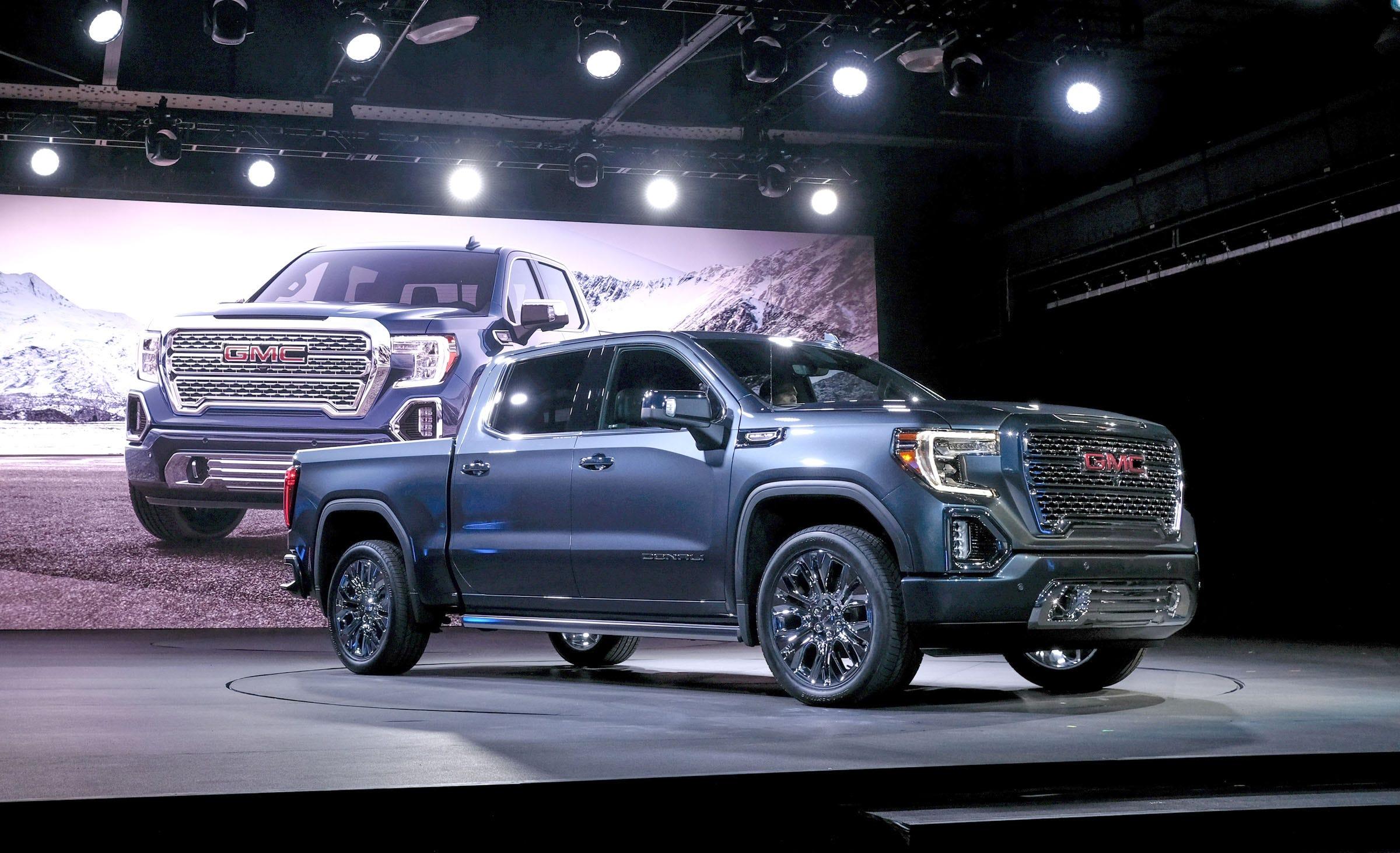 gm unveils 2019 gmc sierra denali slt pickup trucks rh freep com