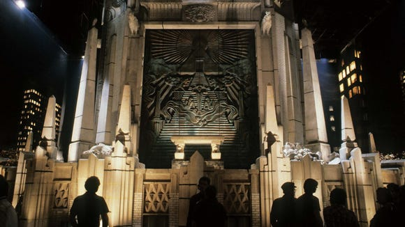 """Gozer temple on the set of """"Ghostbusters."""""""