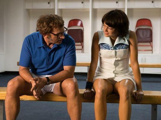 Steve Carell stars as Bobby Riggs and Emma Stone as