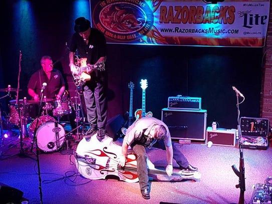 The Bound Brook-based rockabilly trio The Razorbacks
