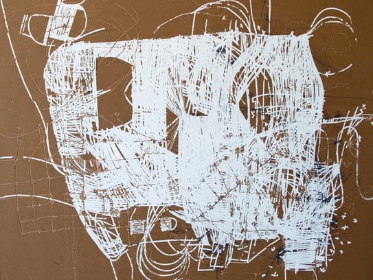 """Lain York, """"Untitled (sitemap),"""" graphite and correct"""