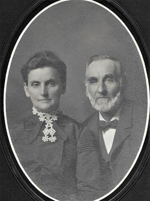 Lawrence Offerle and his wife Mary Ursula Ott, were the co-founders of the town Offerle in 1876. SUBMITTED PHOTO