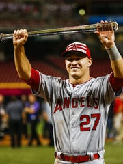Angels outfielder Mike Trout.