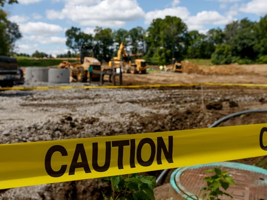 SiteWORX begins the ground work as they level the land and install sewer pipes for the 168-acre housing development on the former Crooked Tree Golf Course on Wednesday. Golf isn't what it used to be, and some properties are becoming sites for homes or other purposes.