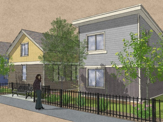 Renderings of the Tiny Ten community planned by HabeRae