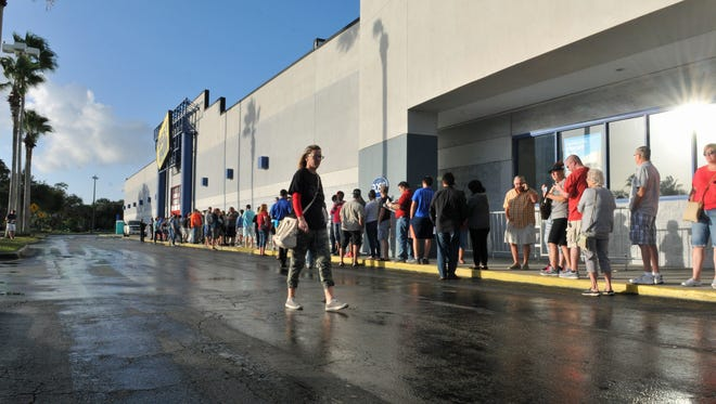 Black Friday at Best Buy in Melbourne, in Brevard County, Florida. The store opened 8:00am Friday.