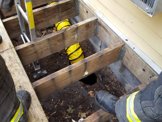 Members of the Madison Fire Department Confined Spaces