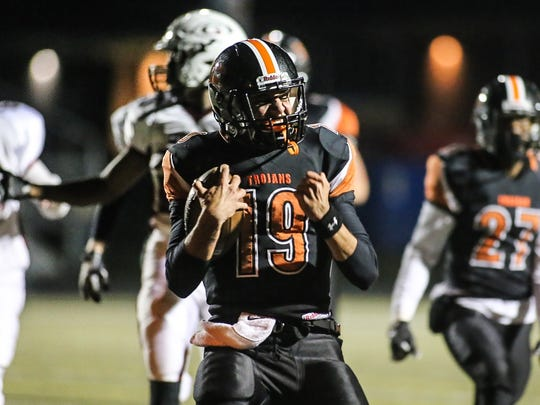 York Suburban's Ben Igo (19) was named the Y-A League Division II Offensive Player of the Year, the second straight Trojan to earn the honor. Amanda J. Cain photo