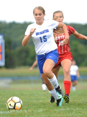 Southeastern's McKinley Mitten currently leads the area in goals scored with 20 this season.