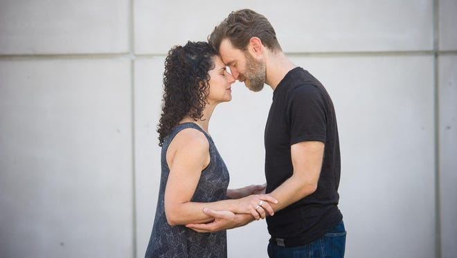"Makela Spielman and Robert Ross Parker star in ""Constellations"" at Hangar Theatre."