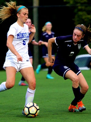 Rebecca Van Siclen of Montclair (5) and MKA's Alexis Riley have helped their teams reach the Essex County tournament.