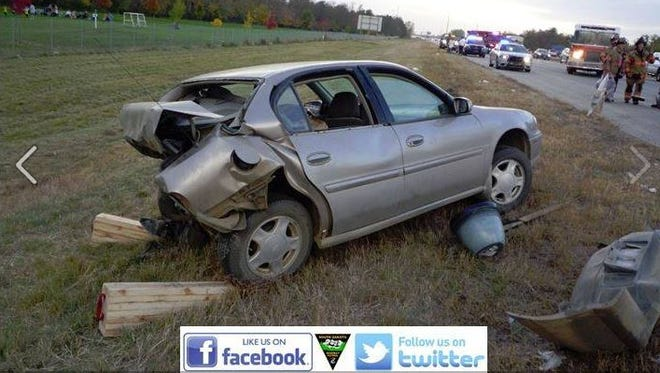 A Chevy Malibu was rear-ended on I-229 near Cliff Avenue. The driver had serious, non life-threatening injuries.