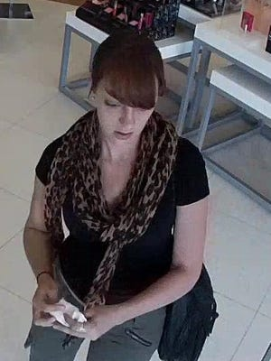 Howell police say this woman stole cosmetics at the Ulta Store in the Howell Commons shopping center.