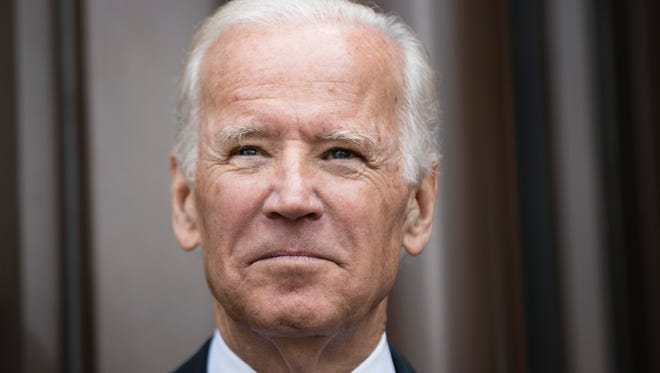 Former Vice President Joe Biden during the opening ceremony for Museum of the American Revolution in Philadelphia.