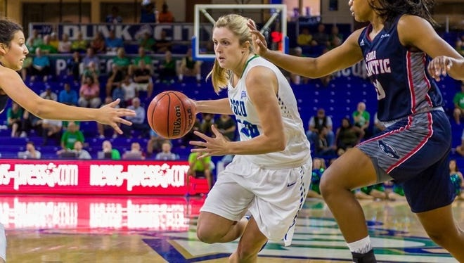 Haley Laughter is a redshirt junior for the Florida Gulf Coast women's basketball team.