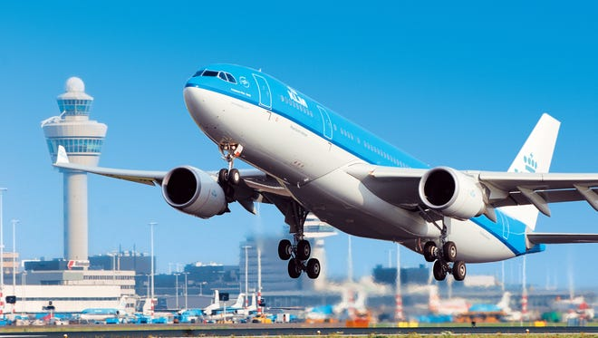 This photo provided by KLM shows one of the airline's Airbus 330-200 aircraft.  Foto:KLM