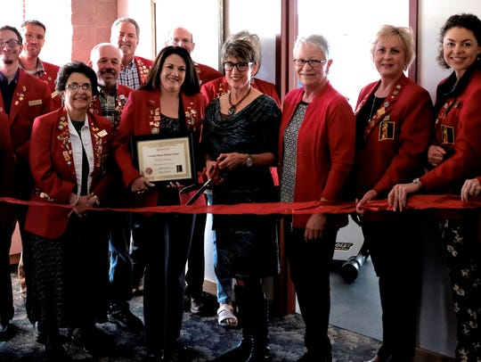 April 18 was the date for a ribbon cutting for the