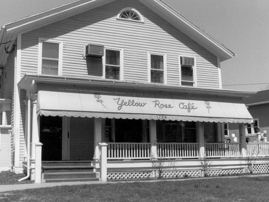 Yellow Rose Cafe was the home of Daniel Penfield. Photo 1990.