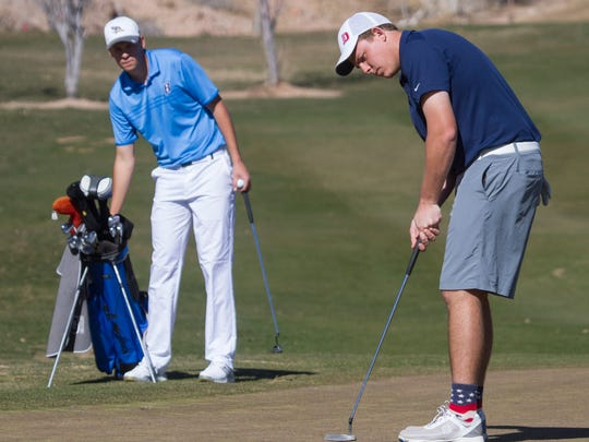 Golfers from DSU and SUU join teams from around the region in the Southern Utah Pat Hicks Invitational at Sunbrook Golf Course Tuesday, Feb. 9, 2016.