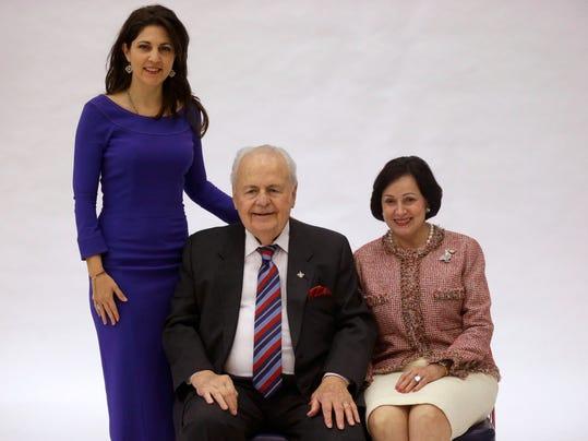 Tom Benson, Gayle Benson, Rita Benson LeBlanc