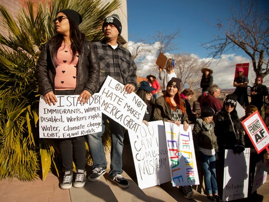 St. George residents march in solidarity with women