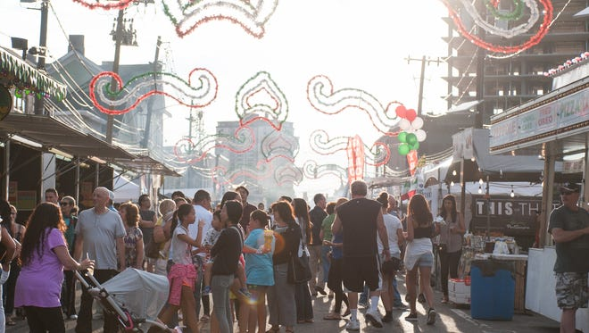 Local area residents enjoying the St. Rocco Feast in this 2015 file photo.