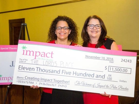Two of this year's Impact the Palm Beaches grant finalists,