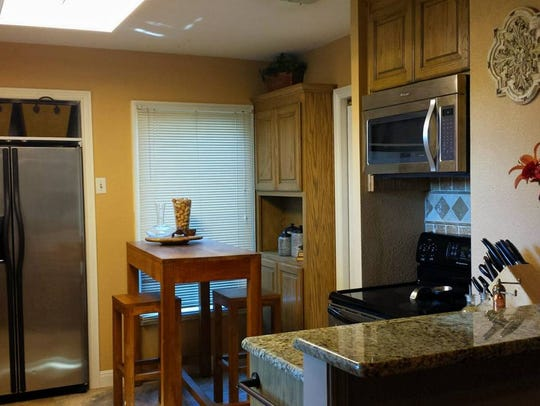 The kitchen in Fain Casa has been completely renovated,