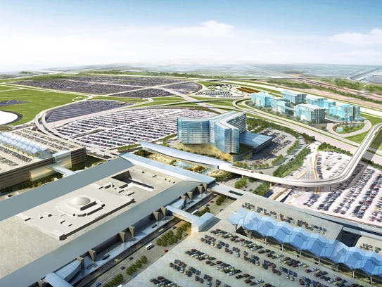 A rendering of the proposed Airport City  at Hartsfield-Jackson
