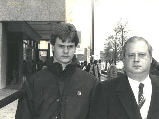 Rick Wershe Jr. with his lawyer William Bufalino II