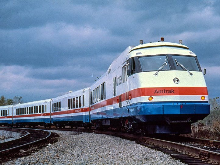 In 1976-77, Amtrak introduced the modern gas-turbine