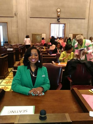 Members of Alpha Kappa Alpha, Gamma Alpha Omega Chapter visited the state capitol Tuesday.