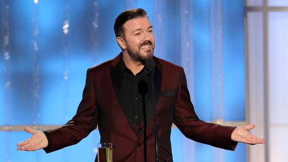 Ricky Gervais divided audiences when he hosted the