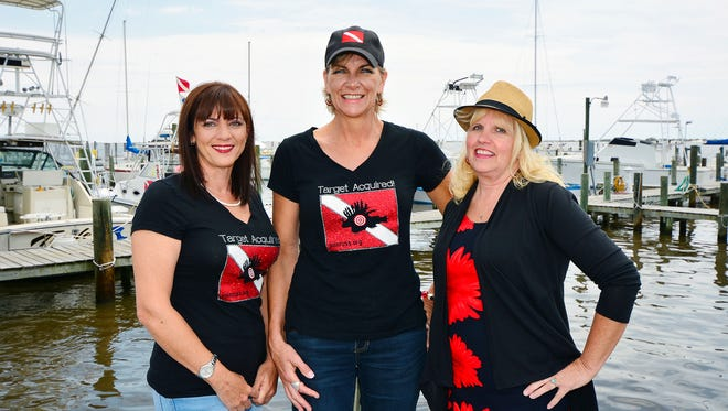 Cheryl Galavitz, Brendalee Johnson and Katie Jewell with the Recreational Underwater Sports Society.