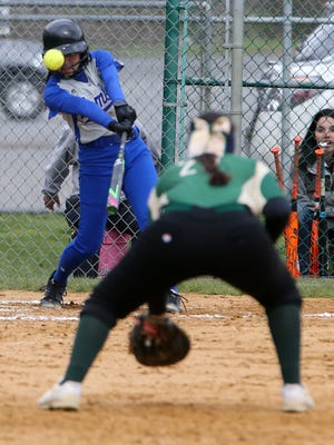 The Bombers of Sayreville take on the Hawks of J.P. Stevens High School in a girls softball in Edison on Friday April 8, 2016