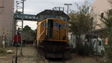 A runway train struck the gate of the international rail crossing at Nogales on Jan. 9, 2016. There were no injuries, and damage was minimal, according to the CBP.