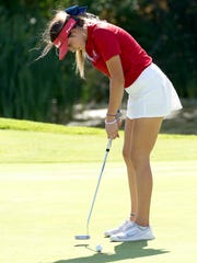 Abbi Fleiner shot a 77 Monday at Highland Falls GC