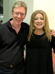 Patrick Merrell with comedienne Elayne Boosler.
