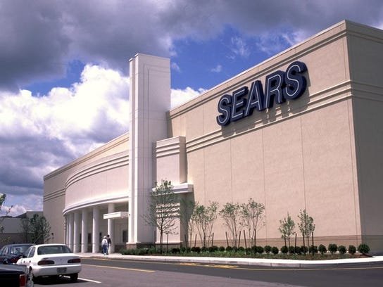 The front of a Sears department store